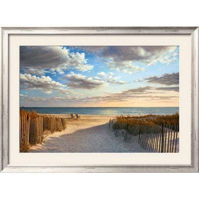 Wildon Home  'Sunset Beach' by Daniel Pollera Framed Photographic Print