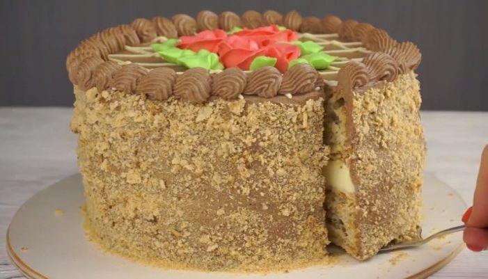 Простое украшение торта шоколадом 66