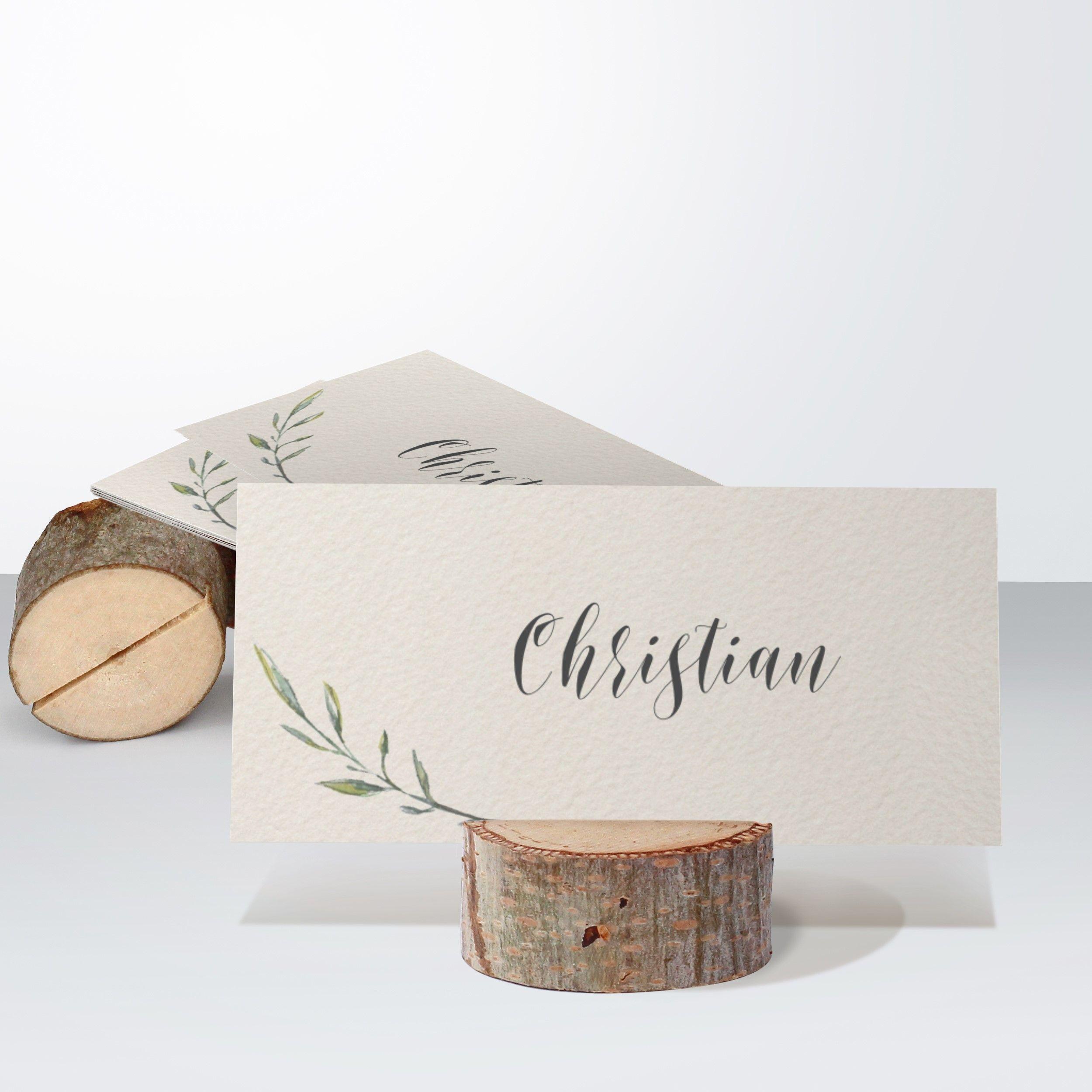 Märchenwald Tischkarte einfach 100×048 hellbraun – Wohnaccessoires