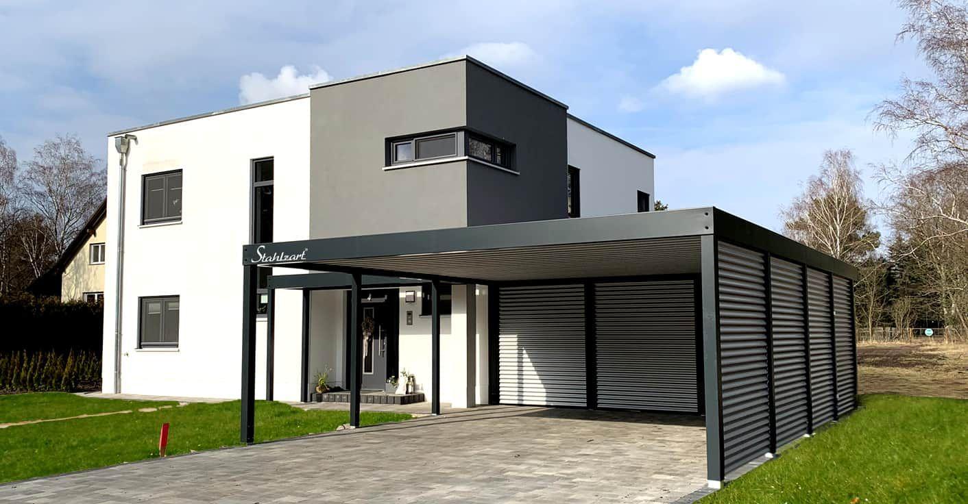 Carport Modern Prag Haus Anbau Flachdach Design Stahlzart In 2020 Carport Modern Carport Style At Home