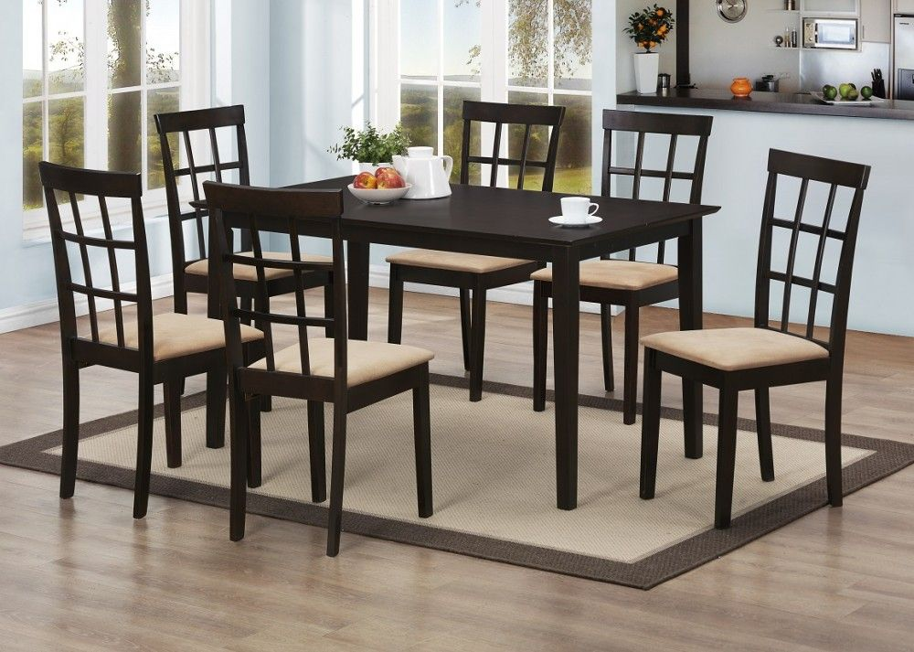 Discount Dining Table 6 Chairs D187 Table 6 Dining Room