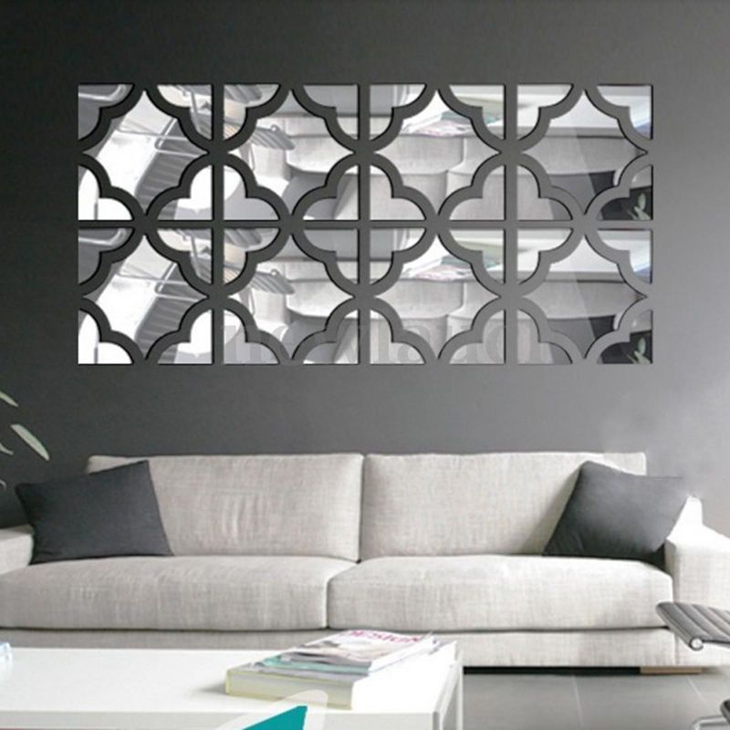 removable 3d modern mirror symmetry wall stickers acrylic on wall stickers design id=41486