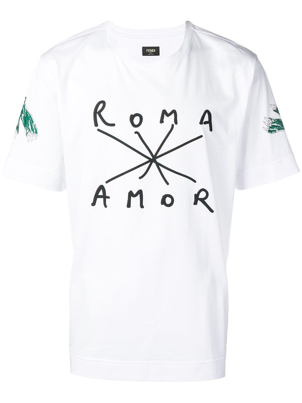 fd50ca91 FENDI FENDI ROMA AMOR T-SHIRT - WHITE. #fendi #cloth | Fendi in 2019 ...