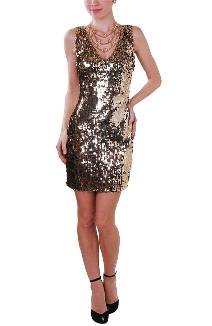 Covered in dazzling sequins, this dress is the most spectacular way to make an impact at any party.  http://rstyle.me/n/c647jnyg6