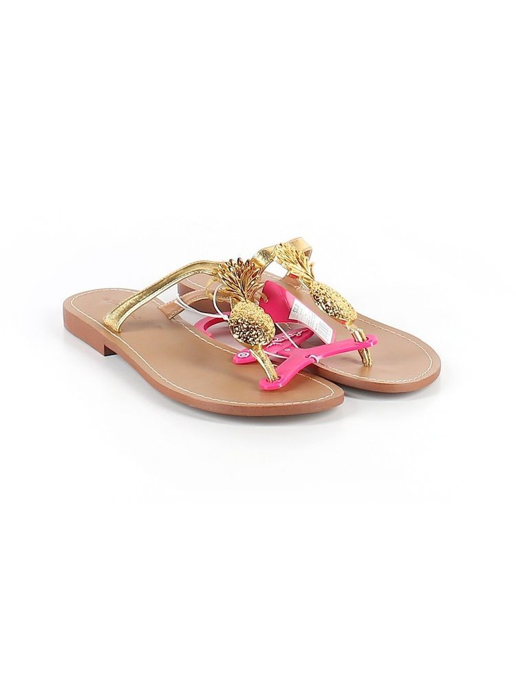 3d1b75470e8c New Women Lilly Pulitzer for Target Gold Pineapple Flip Flop Sandal Shoe  Size 9  lillypulitzerforTarget  FlipFlops