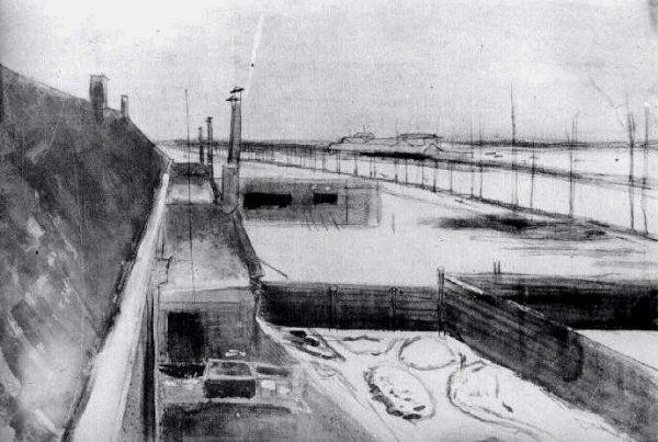 Cortile innevato   1883