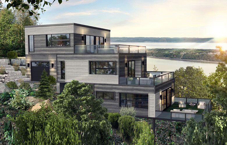 Maison à étages modulaire (avec images) | Modèle maison ...