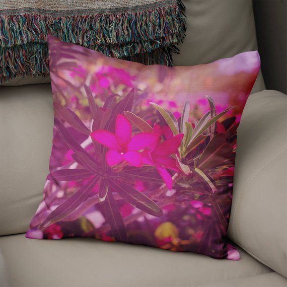 Desert Rose, Flower Throw Pillow