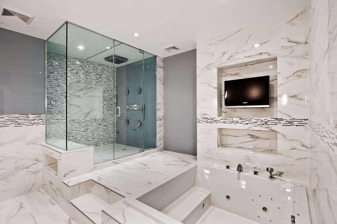 30 Marble Bathroom Design Ideas Styling Up Your Private Daily Rituals Freshome Com New Bathroom Designs Small Luxury Bathrooms White Marble Bathrooms