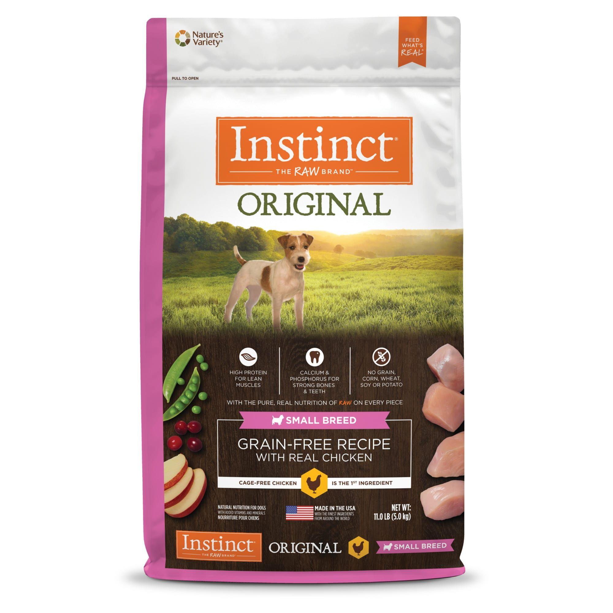 Instinct Original Small Breed GrainFree Recipe with Real