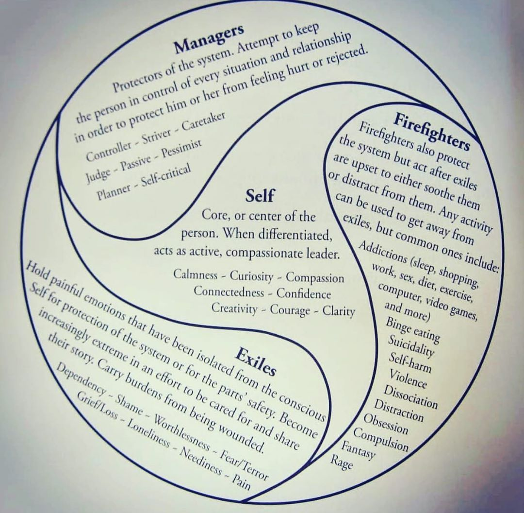 Here Is A Chart From Internal Family Systems Ifs We Have Many Roles We Play To Manage Possible Rej Internal Family Systems Family Systems Therapy Worksheets