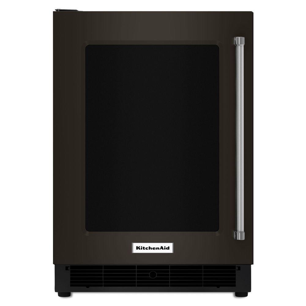 Kitchenaid 5 1 Cu Ft Undercounter Refrigerator In Printshield Black Stainless Kurl304ebs The Home Depot Kitchen Aid Compact Fridge Mini Fridge