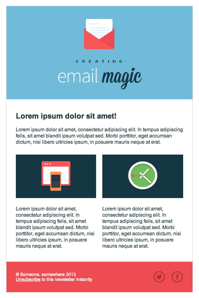 Build An HTML Email Template From Scratch CSS Pinterest - Build html email template