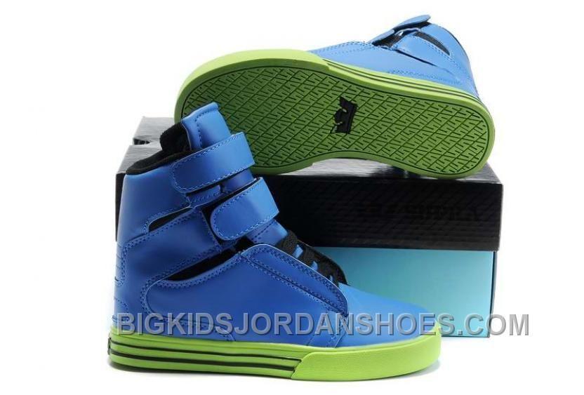 b1bf06b8cff4 Supra TK Society Kids Royal Blue Leather Lime Discount
