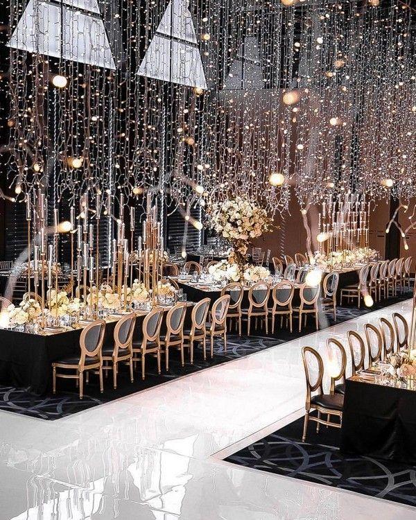 20 Creative Ideas For Wedding Reception Lighting Country Wedding Reception Wedding Lights Wedding Decorations