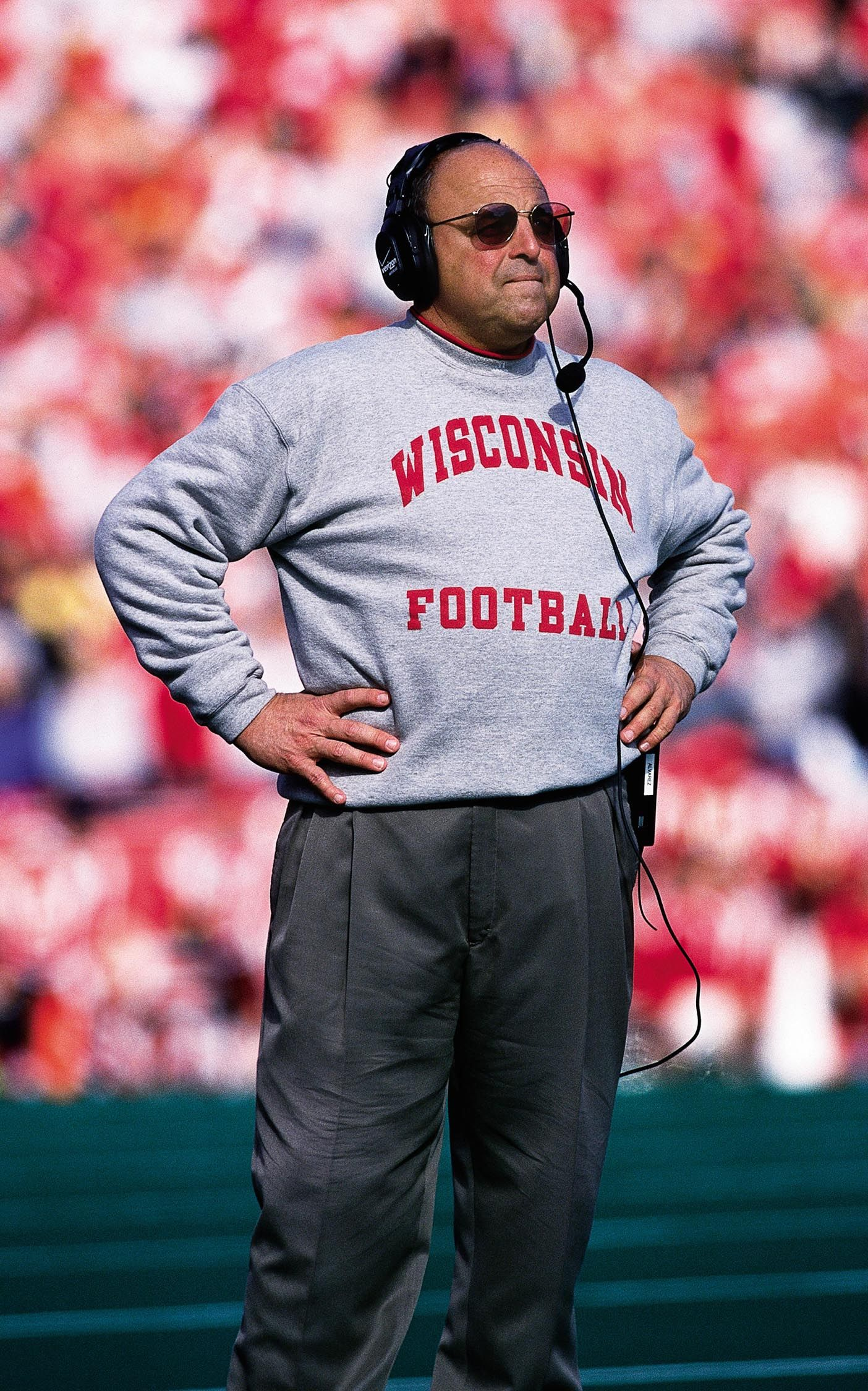 Wisconsin's coach Barry Alvarez will be back on the