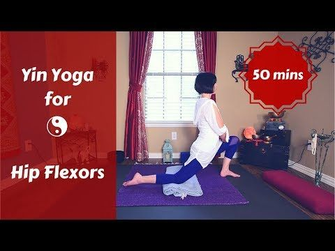 yin yoga for psoas hips  hip flexors  hip  back