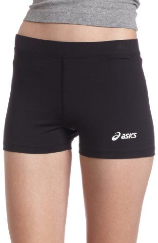 ASICS Women's Low-Cut Running Short,Black,XX-Small: Volleyball players will  enjoy the snug styling, with its inseam and flat seam stitching.