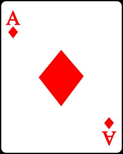 File Playing Card Diamond A Svg Wikimedia Commons Cards Playing Cards Art Diamond Template