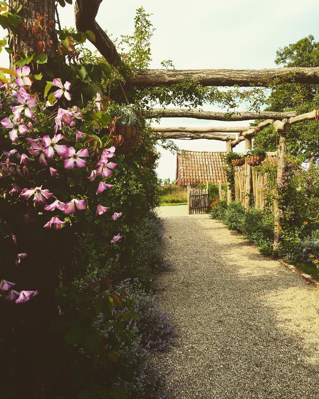 The English Garden at Kivik in Sweden, so charming pergola and ...