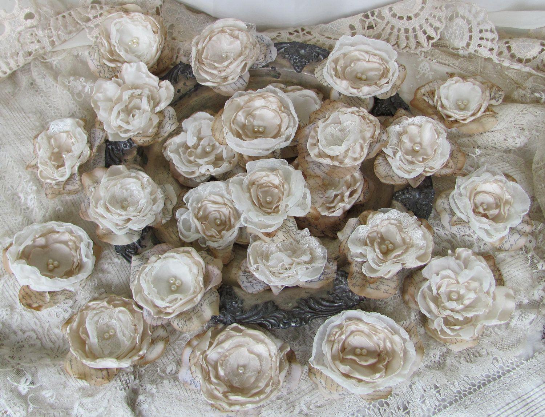 Fabric Flowers, Wedding Flowers, DIY Wedding, Bridal Flowers,Wedding ...