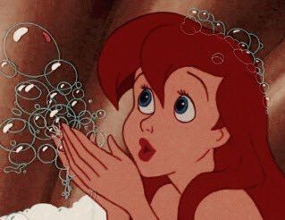 Photo of ariel and her bubbles