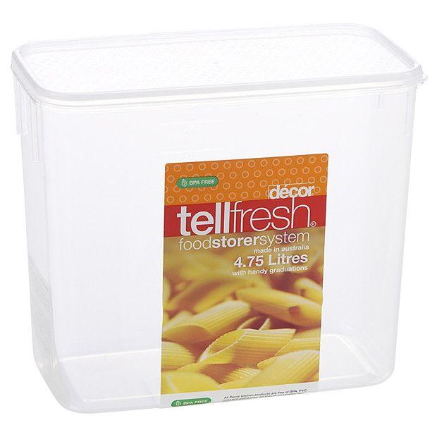 Décor Tellfresh Oblong Storer - 4.75lt