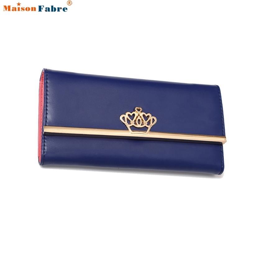 5.21$  Buy now - http://aliogj.shopchina.info/go.php?t=32795706739 - Women Clutch Imperial Crown Long Purse Wallet Card Holder Handbag Bag Comfystyle 5.21$ #aliexpresschina