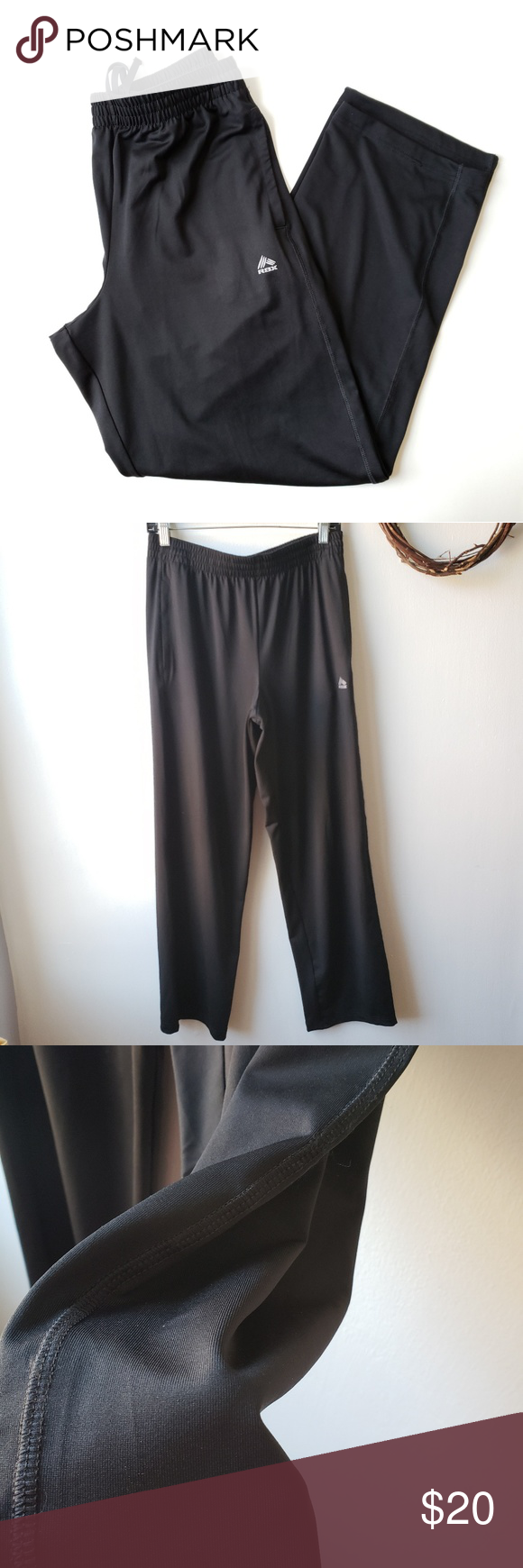95daf1299ff2 RBX Men s Black Performance Pants Size Medium