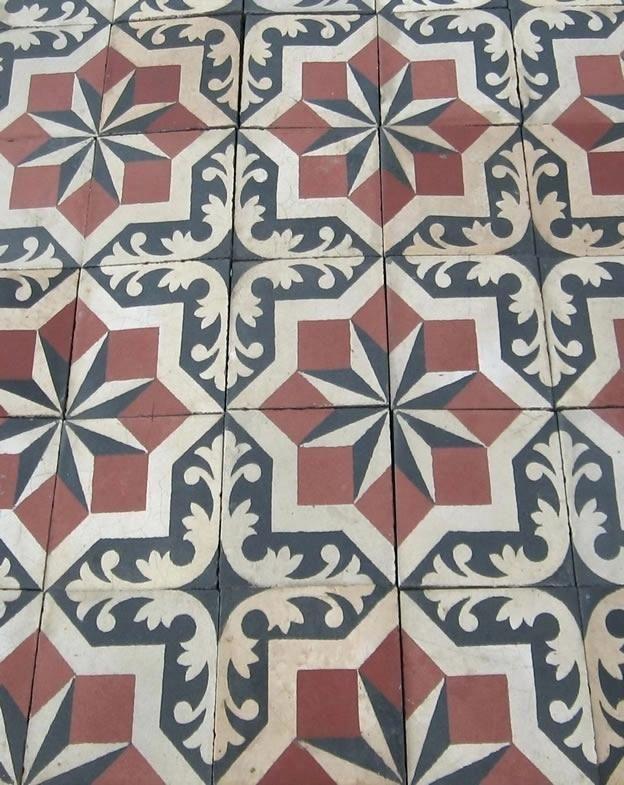 Retro Vintage Pattern Spanish Tiles For Floors Edwardian Floor Tiles