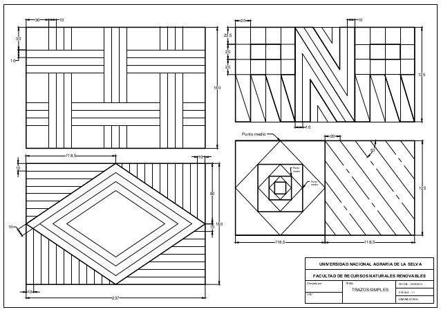 Practica 2a Trazos Simples Ejercicios De Dibujo Tecnicas De Dibujo Dibujo Tecnico Ejercicios