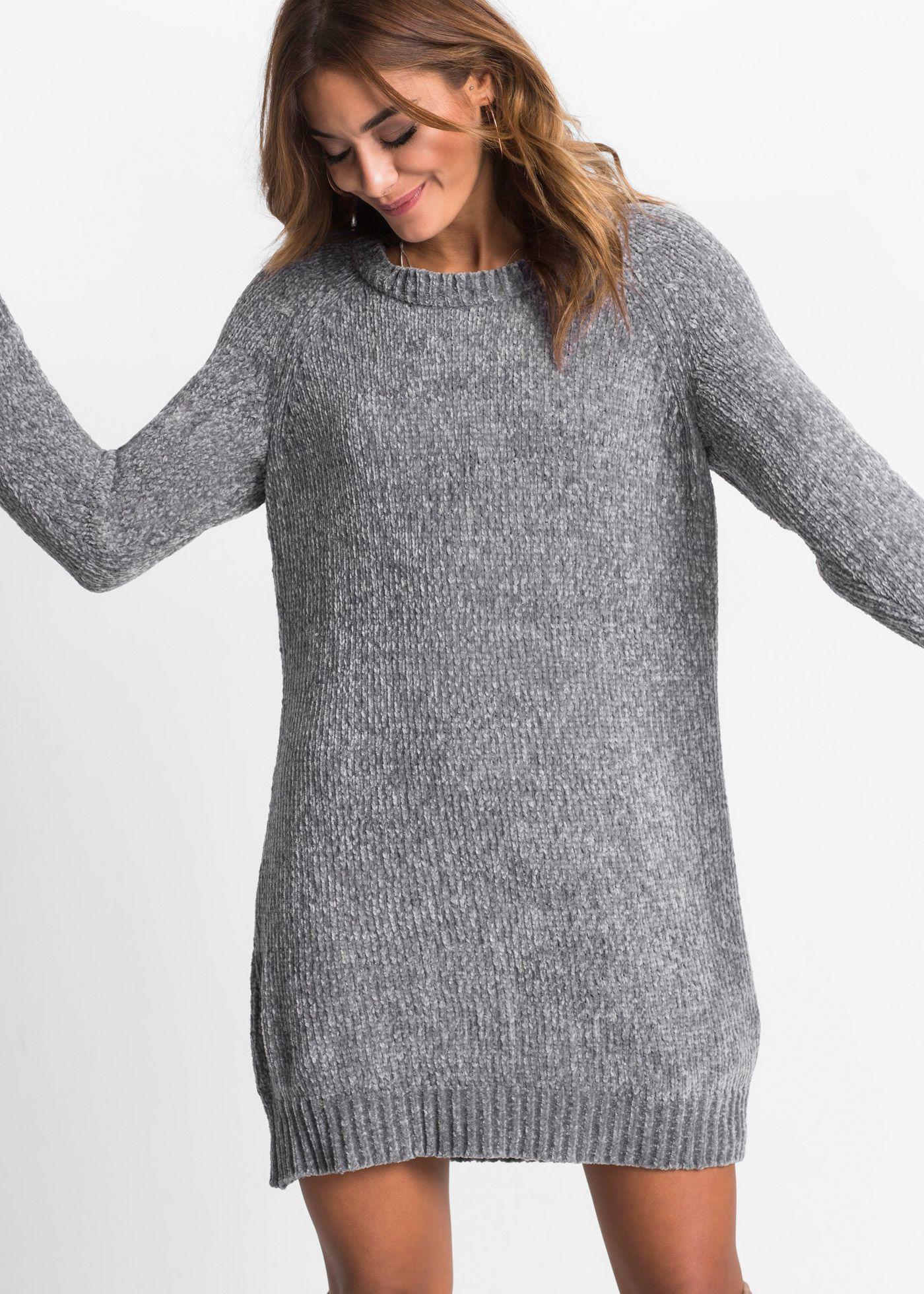 oversize-strickkleid grau jetzt im online shop von bonprix