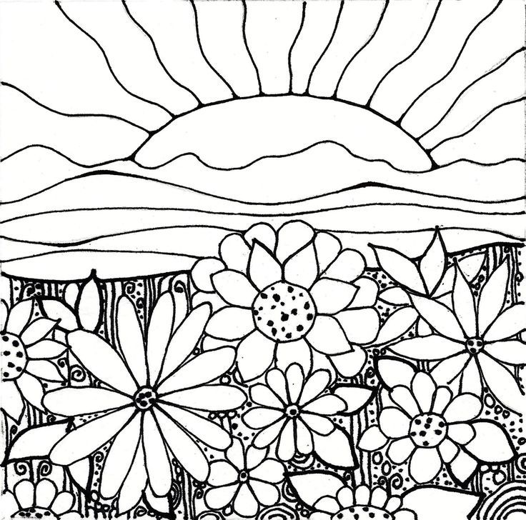 sunset coloring pages Pin by julia on Colorings | Pinterest | Coloring pages, Flower  sunset coloring pages