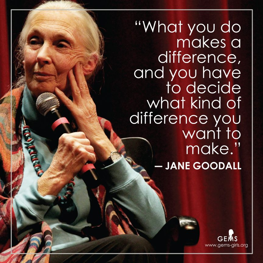 jane goodall inspirational quote by Girls educational and