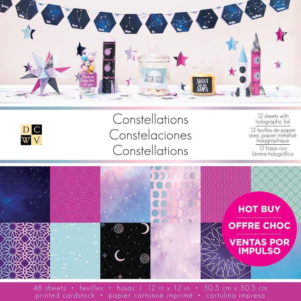 Dcwv Constellations Printed Cardstock Paper Pad 12 X 12