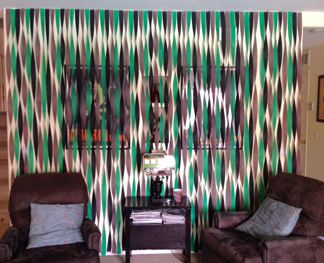 Army streamer wall decorations party decorations for Army party decoration ideas