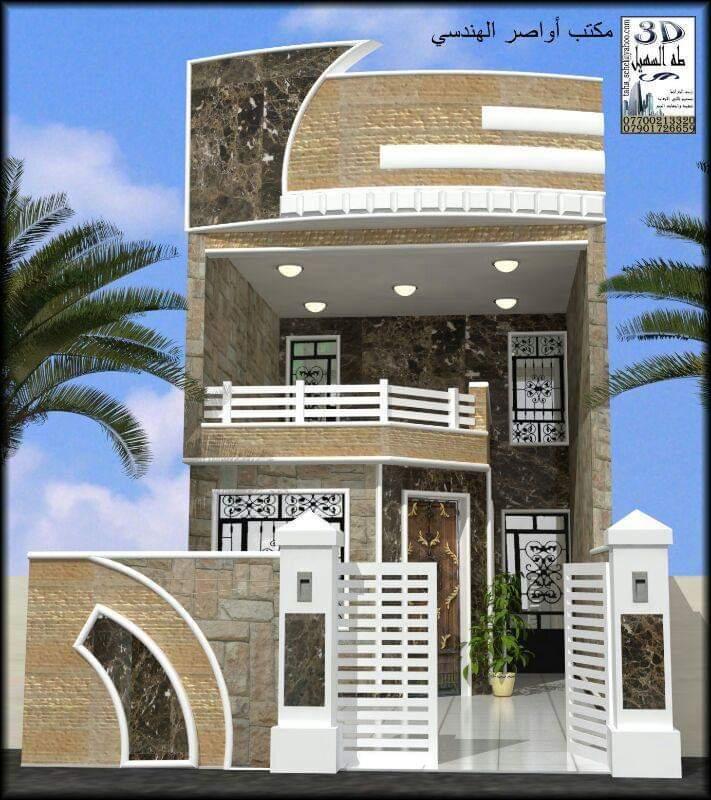 واجهات منازل عرض الواجهات 5 متر منتديات درر العراق Kerala House Design House Main Gates Design Modern Style House Plans