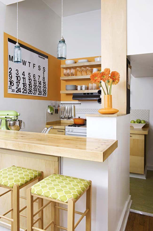Eine Küche mit orangen Akzenten.   Kitchen Space   Pinterest ...
