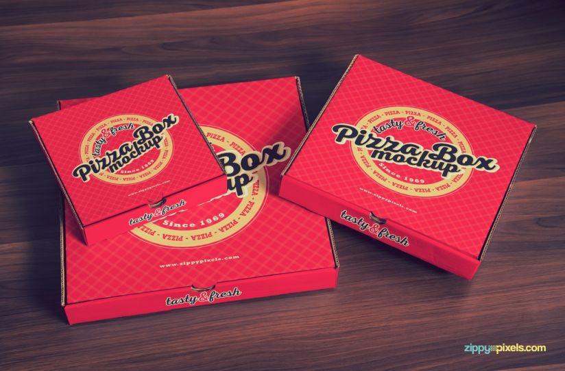 15 Yummy Pizza Box Mockup Psds Packaging Mockups