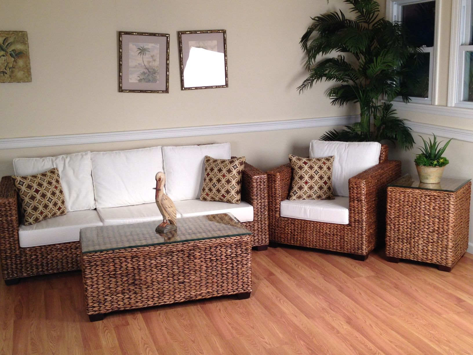 Wicker Sunroom Furniture | Los Cabos Seagrass Sunroom Furniture Set Of 4 Part 42