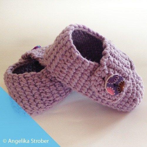 Babyschuhe häkeln - kostenlose Anleitung | Babies, Crochet and ...