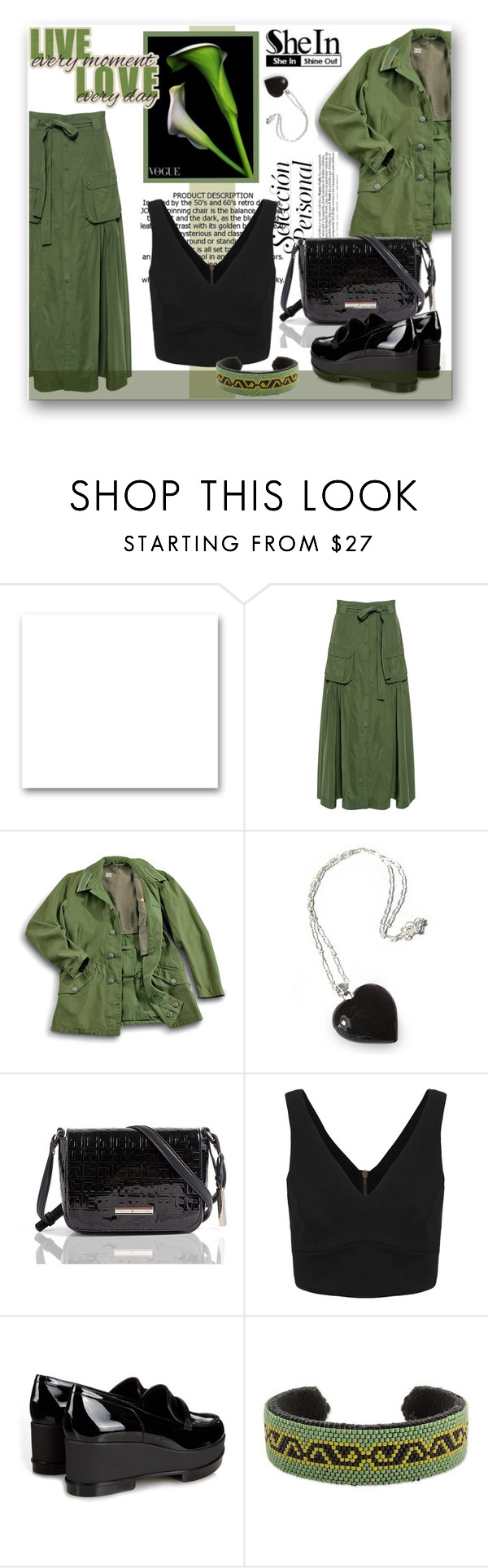 """""""SheIn-Black Top"""" by samketina ❤ liked on Polyvore featuring St. John, Marissa Webb, NOVICA, Tommy Hilfiger and Robert Clergerie"""