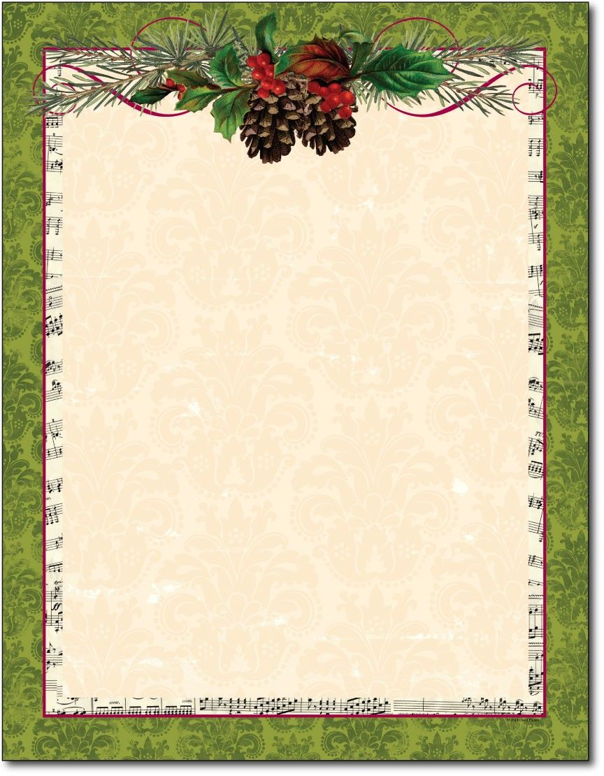 image about Free Printable Christmas Letterhead titled free of charge printable xmas paper stationery - Google Glimpse
