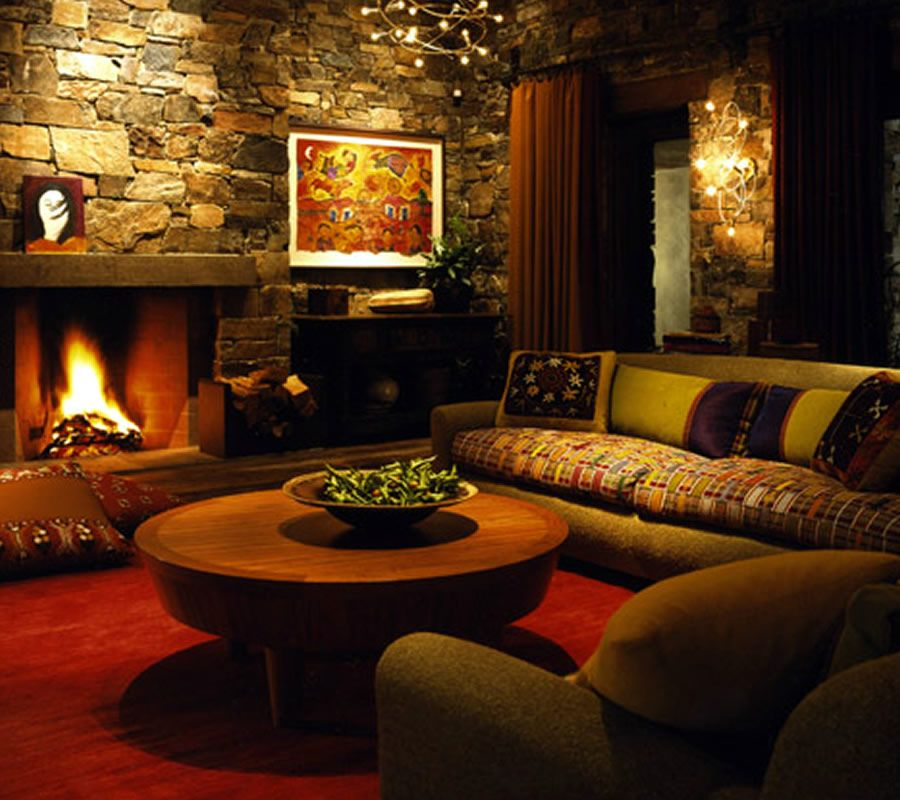 Unique, aesthetic and comfortable rustic home interior design of ...