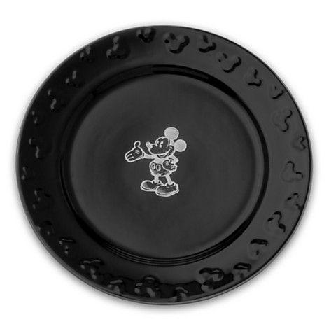 Gourmet Mickey Mouse Dinner Plate Set - Black/White  sc 1 st  Pinterest & Gourmet Mickey Mouse Dinner Plate Set - Black/White | The Gift Shop ...