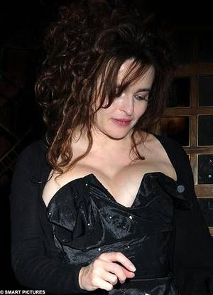 Helena Bonham Carter on the way home after an event