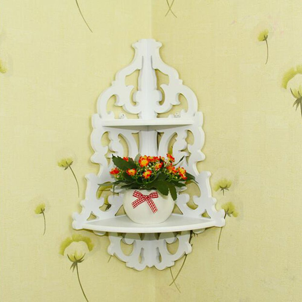 OUTAD new fashion and hoe sale Vintage Decor Floral White Wood Wall ...