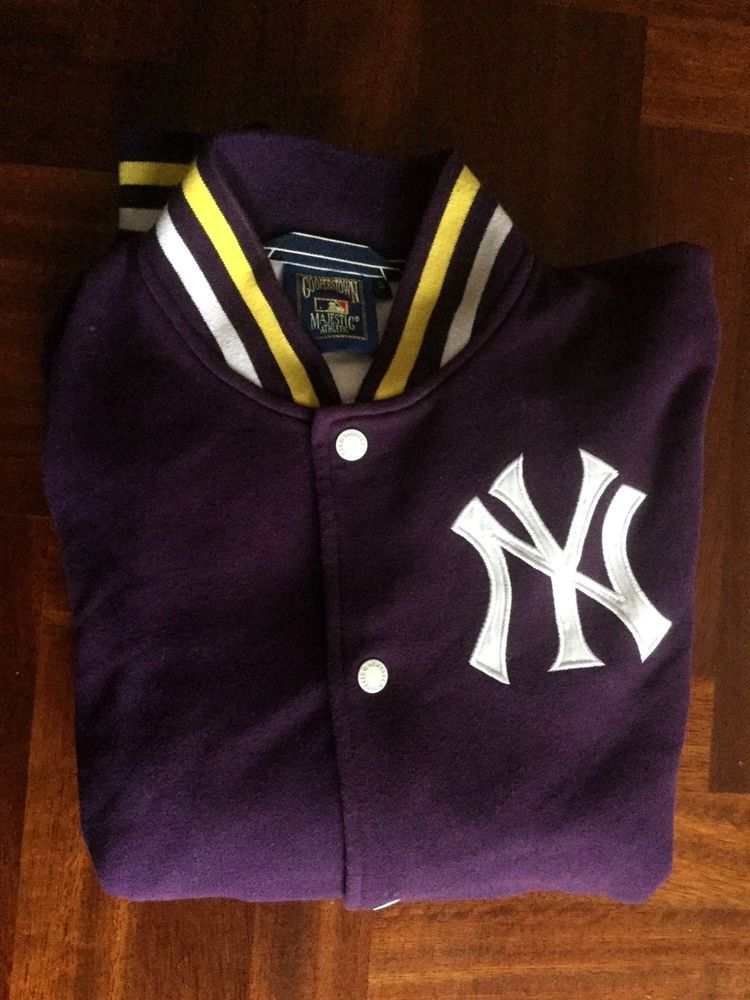 size 40 9b4f9 aefb6 Maglia New York Yankees cooperstown majestic giacca bottom ...