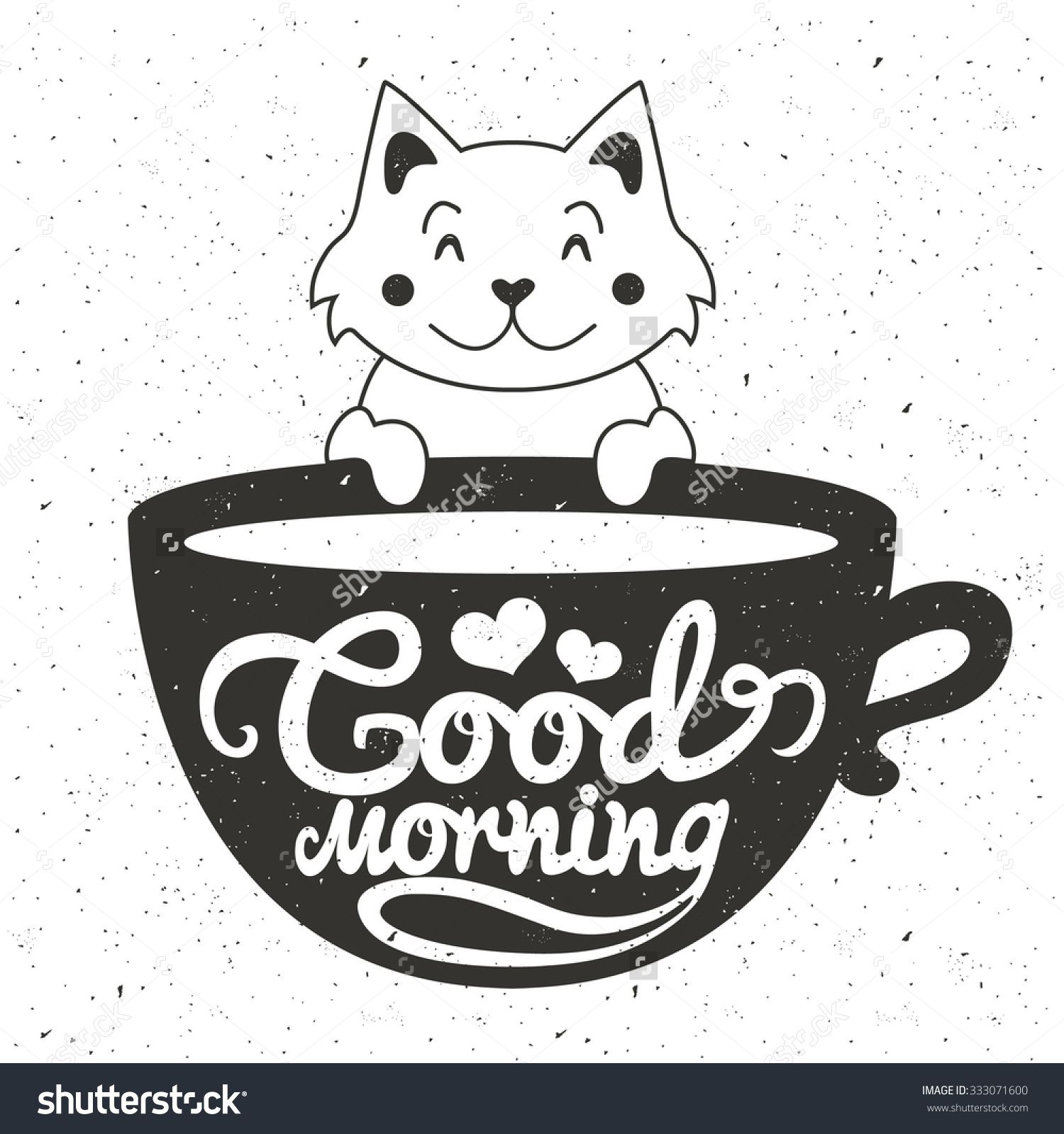 Stock-vector-vector-illustration-of-cute-little-white-cat
