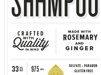 Shampoo Label